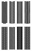 pic of street-rod  - Set of tire shapes isolated on white for design - JPG