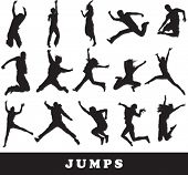 stock photo of exaltation  - jumping people vector - JPG