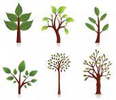 Постер, плакат: Векторные деревья