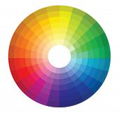 foto of color wheel  - Color wheel - JPG