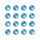 blue drop medicine icons