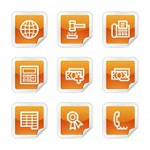 Finance 2 web icons, orange glossy sticker series