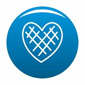 Impressionable Heart Icon. Simple Illustration Of Impressionable Heart Icon For Any Design Blue poster