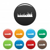 Equalizer Audio Icon. Simple Illustration Of Equalizer Audio Icons Set Color Isolated On White poster