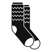 Winter Socks Icon. Simple Illustration Of Winter Socks Icon For Web Design Isolated On White Backgro poster