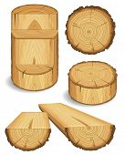 image of wood pieces  - Set of wooden materials  - JPG