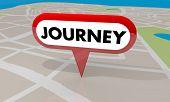 Journey Adventure Travel Trip Fun Destination Map Pin 3d Illustration poster