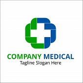 Medical Logo For Brand Identity Or Symbol Your Company. Health Care Logo. Clinic Logo. poster