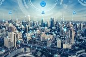 Smart City Wireless Communication Network Concept. poster