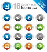 Glossy Buttons - Social media icons