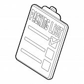 Clipboard With Packing List Icon. Isometric 3d Illustration Of Packing List Icon For Web poster