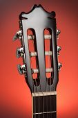 image of sounding-rod  -  Close up of classic guitar head stock - JPG