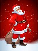 foto of santa-claus  - Santa Claus vector image - JPG