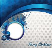 Blue Christmas Background.