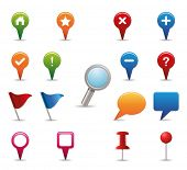 stock photo of gps  - GPS Icon set - JPG