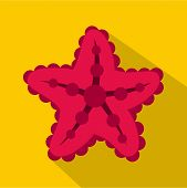 Starfish Icon. Flat Illustration Of Starfish Icon For Web poster