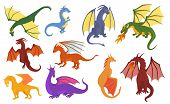 Dragon Cartoon Vector Cute Dragonfly Dino Character Baby Dinosaur For Kids Fairytale Dino Illustrati poster