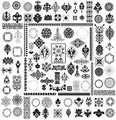 stock photo of adornments  - Different style design elements - JPG