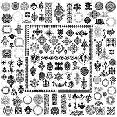 stock photo of adornments  - 100 different retro elements - JPG