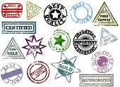 foto of allowance  - Grunge rubber stamps - JPG
