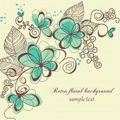 image of swirly  - Retro floral background - JPG