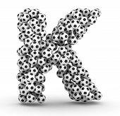 Постер, плакат: K письмо футбольные мячи футбольные