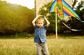 Little Boy With Kite