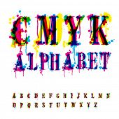 stock photo of dtp  - CMYk alphabet - JPG