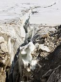 foto of skardu  - Crevasse at Vigne Glacier in the Karakorum in Pakistan - JPG