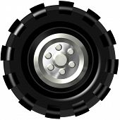picture of monster-truck  - Giant Monster Truck Tire for art and Illustrations - JPG