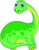foto of terrific  - Vector illustration of Cute dinosaur cartoon isolated on white background - JPG