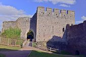 foto of chepstow  - A view of the ruins of Chepstow Castle located in Chepstow - JPG