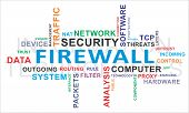 stock photo of traffic rules  - A word cloud of firewall related items - JPG