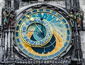 image of horoscope  - Prague Orloj astronomical clock - JPG