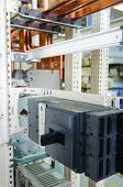 image of busbar  - Copper busbar and protection componets into a distribution panel - JPG