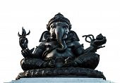 image of cultural artifacts  - Ganesha statue is god of happiness isolated - JPG