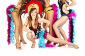 image of carnival brazil  - A picture of a carnival girl posing over other dancers - JPG