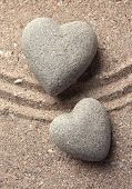 pic of pumice stone  - Grey zen stone in shape of heart - JPG