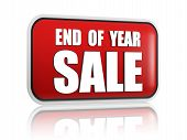 stock photo of year end sale  - end of year sale button  - JPG