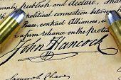 picture of bill-of-rights  - Ammunition on US Constitution John Hancock - JPG