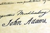 John Adams signature US constitution