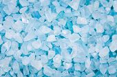 image of crystal salt  - blue sea salt crystals as a background - JPG