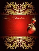 image of christmas greetings  - Christmas card this illustration may be usefull as designer work - JPG