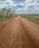 "stock photo of jericho  - ""Dirt 66"", the infamous Jericho Gap, near Alanreed, TX. During Route 66"