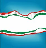 stock photo of italian flag  - vector background with Italian and mexican flag - JPG