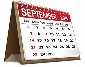 pic of calendar 2014  - September 2014 Calendar - JPG
