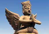 stock photo of concubine  - clay statue of mythological flying celestial Ningxia China - JPG