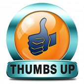 image of job well done  - thumbs up Good and excellent work - JPG