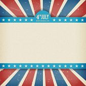 picture of democracy  - Vintage independence 4th July american day poster - JPG