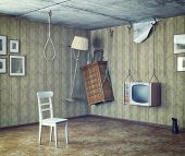 foto of gallows  - an urgent need to make repairs interior - JPG